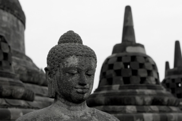 פסל במקדש בורובודור