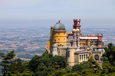 ארמון פנה הייחודי בטיול מאורגן לפורטוגל של נוה אקדמיה