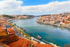 Douro river at Porto Portugal