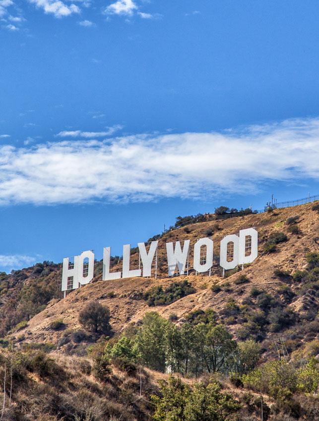 שלט הוליווד המפורסם...