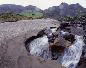 Waterfall in Mountain Baektu_