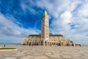 Casablanca Morocco at Hassan II Mosque