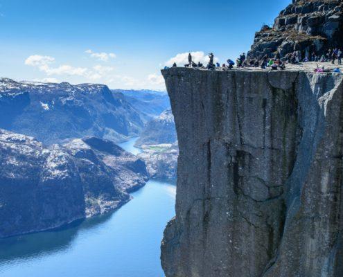 Majestic Preikestolen over Lysefjorden Stavanger Norway