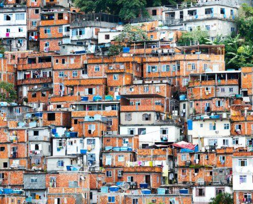 Favela crowded Brazilian slum
