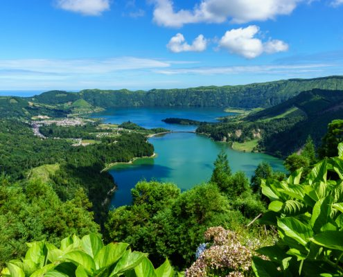 Crater on Sao MIguel island